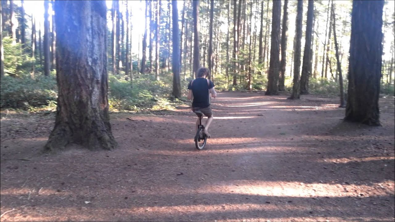 Lost Woods on accordion...on a unicycle...in the woods