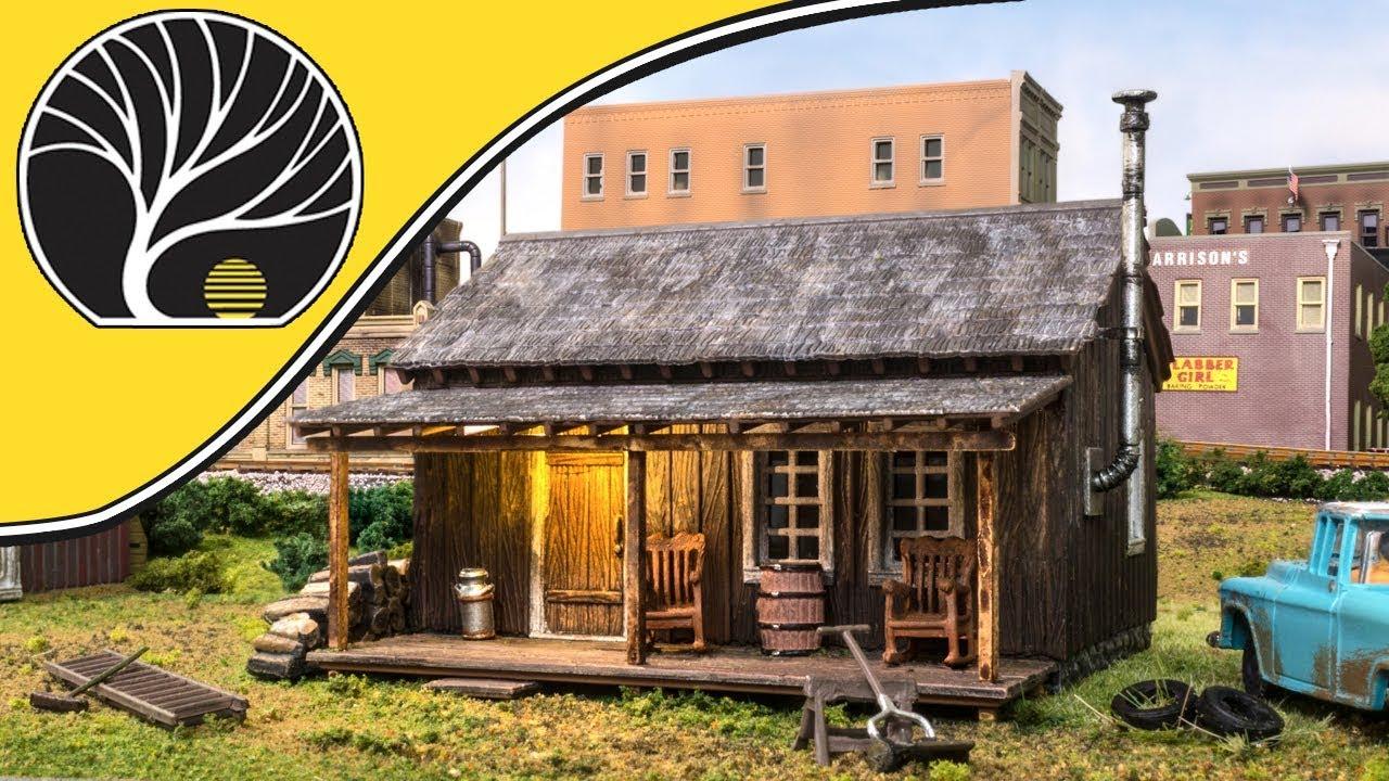 Woodland Scenics 5065 Rustic Cabin- HO Scale