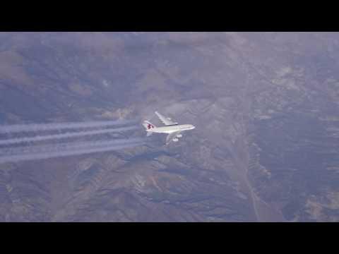 Air to Air video clip, Qatar Airways A380
