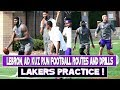 Lakers Football Practice !! Lebron looks like an All Pro NFL athlete and Teammates run routes