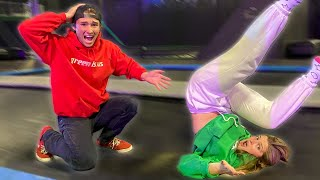 Teaching Girlfriend how to Backflip... I dropped her!