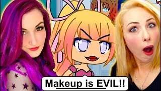 Makeup Makes Us EVIL?! | Weird Gacha Life Story Reaction