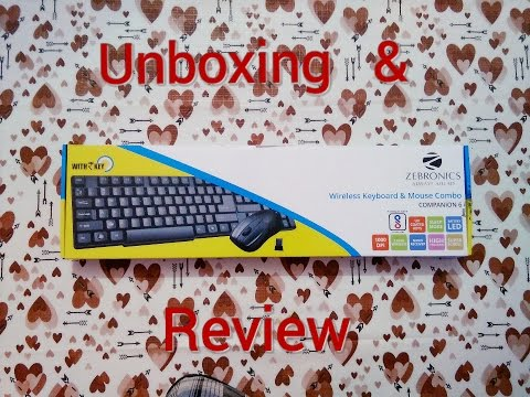 zebronics wireless keyboard mouse combo companion 6 unboxing review youtube. Black Bedroom Furniture Sets. Home Design Ideas