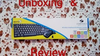 Zebronics Wireless Keyboard & Mouse Combo Companion 6 Unboxing & Review