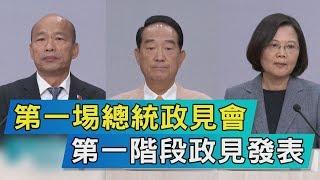【TVBS新聞精華】第一埸總統政見會  第一階段政見發表