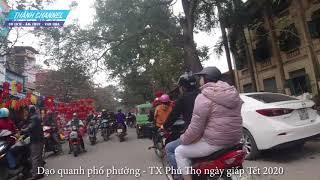 Dạo quanh phố phường TX Phú Thọ ngày giáp tết