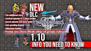 New Kingdom Hearts 3 1.10 Update Remind Dlc & Gaming News 2020