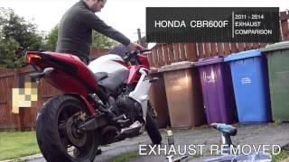 2013 Honda CBR600F - Stock exhaust vs Akrapovic