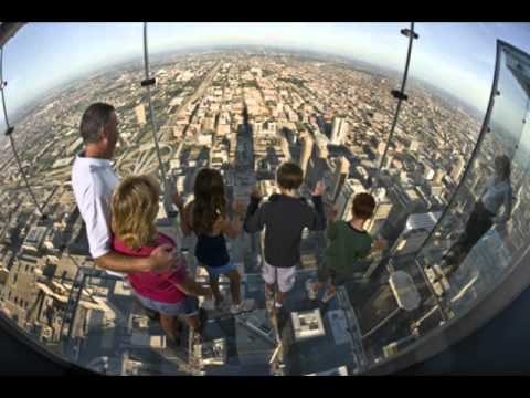 Tallest Buildings in Downtown Chicago, viewed from Skydeck of  Sears-Willis Tower.avi