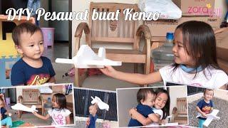 Zara Membuat Mainan Pesawat dari Styrofoam Bekas   Kakak sayang Adik   DIY Styrofoam