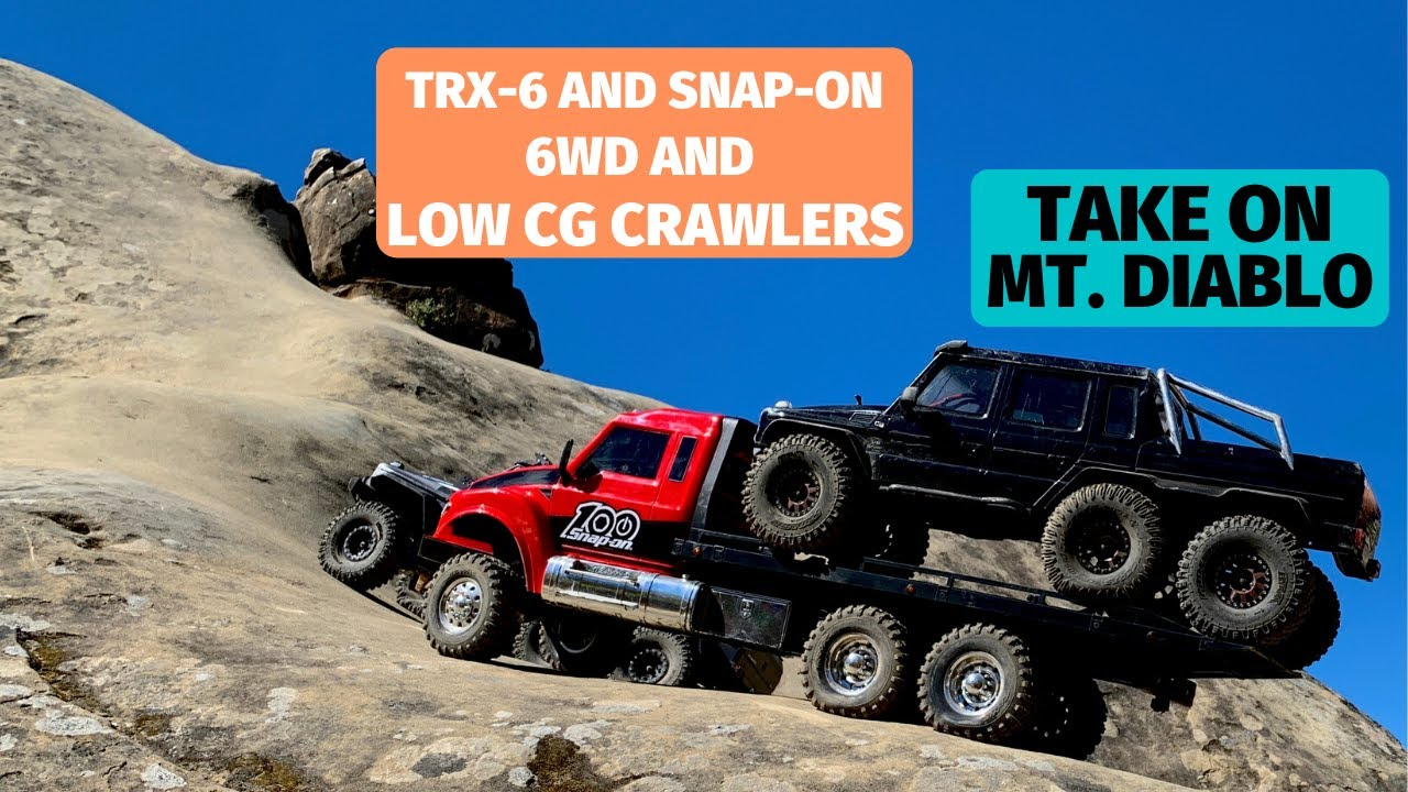 Traxxas TRX-6 and Snap-On 6WD take on the cliffs of Mt. Diablo