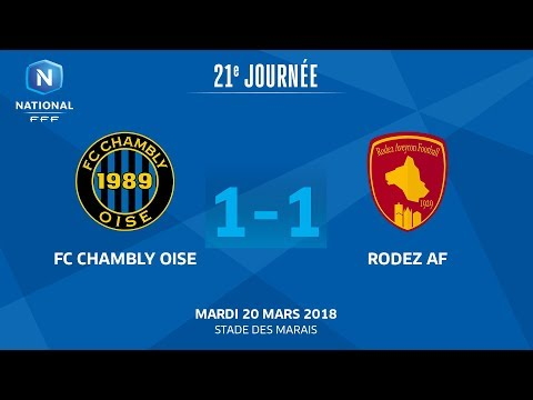 J21 : FC Chambly - Rodez Aveyron F. (1-1), le replay I National FFF 2018