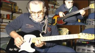Guillotine Blues - by Michel Boulet - Fender Telecaster solid-body guitar-Fender Jazz Bass Fretless