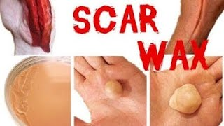 How to make a diy Scar wax Using Vaseline & flour/ homemade Scar wax (Scar wax makeup tutorial)