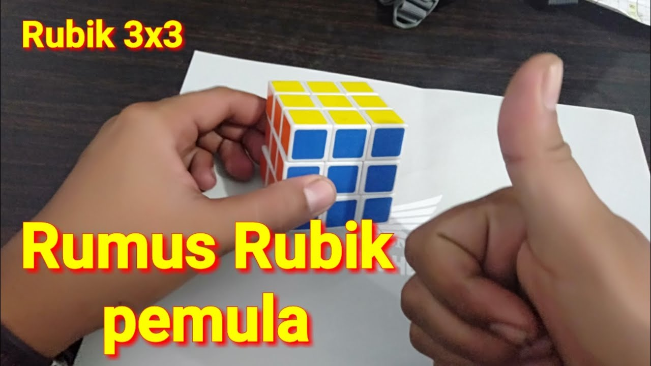 rumus rubik 3x3 pemula - YouTube
