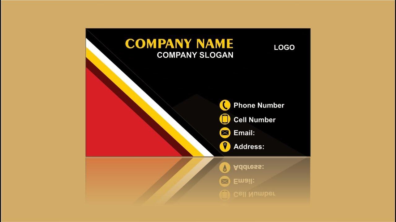 CorelDRAW Design Visiting Business Card Design - YouTube