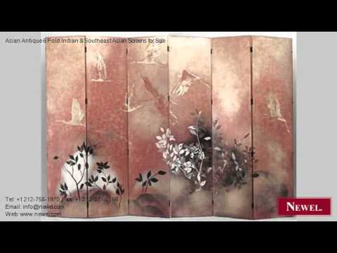 Asian Antique 6 Fold Indian & Southeast Asian Screens for