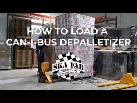 How to load a Can-I-Bus can depalletizer