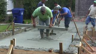 Pouring Concrete For Parking Lot