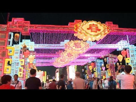 Singapore celebrates Spring Festival with lights, performanc