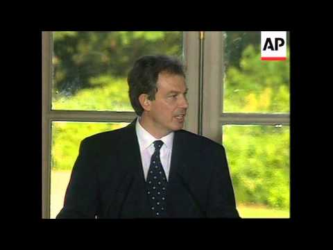 FRANCE: BRITAIN'S PRIME MINISTER TONY BLAIR MEETS PRESIDENT CHIRAC