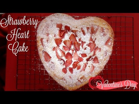 Strawberry Heart Cake Recipe | Valentine's Day | The Sweetest Journey