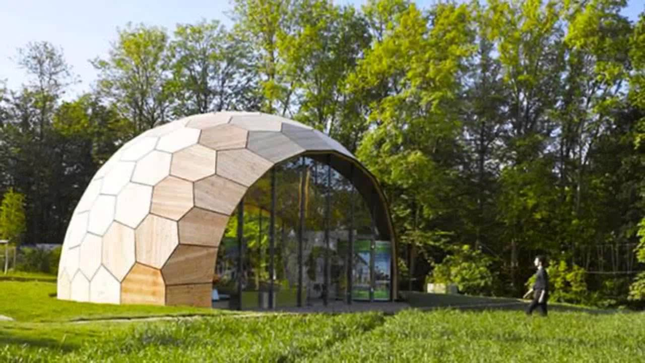 Robots Built This Peanut Shaped Geometric Building From