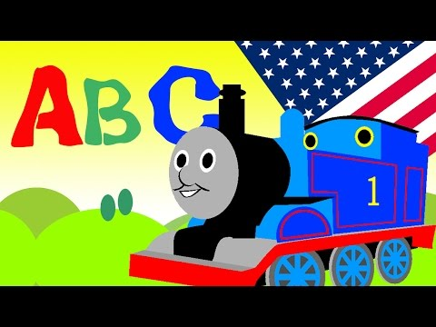 Thomas the Train ABC Song Nursery Rhymes learning Letters