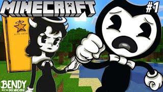 Download BENDY & BORIS GO INTO ALICE ANGEL'S SECRET DOOR! (BATIM Minecraft #1) Mp3 and Videos