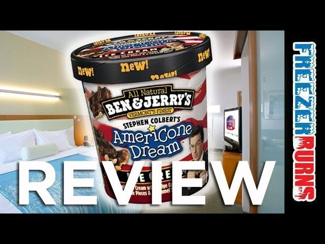Ben Jerry S Americone Dream Ice Cream Review Freezerburns Ep595 Youtube This is stephen colbert's americone dream! ben jerry s americone dream ice cream