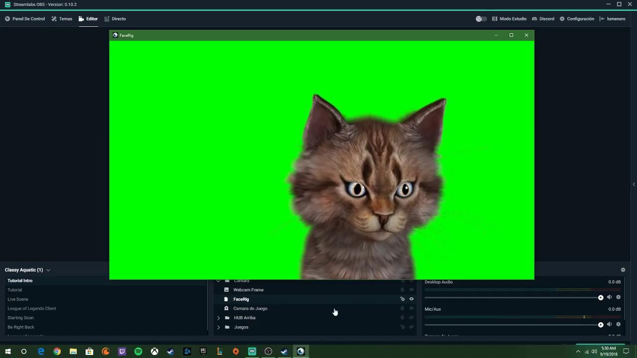 Como Poner Green Screen y Poner tu Camara en StreamLabs OBS!
