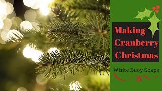 Cranberry Christmas Tallow Soap/Cold Process Soap Making/White Buoy Soaps