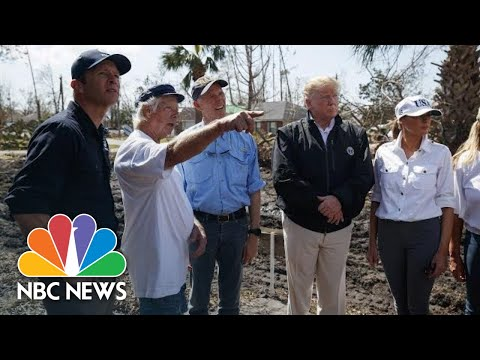 Scenes From President Donald Trump's Post-Hurricane Michael Visit To Florida And Georgia | NBC News
