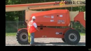 JLG Conducting a Boom Lift Walk Around Inspection
