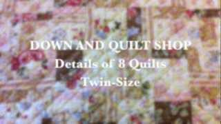Quick Video Showing The Pattern Details Of Twin Size Quilts