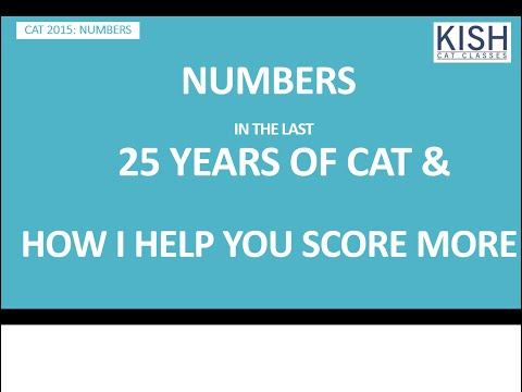 NUMBERS - THE LAST 25 YEARS OF CAT - HOW I HELP U SCORE MORE