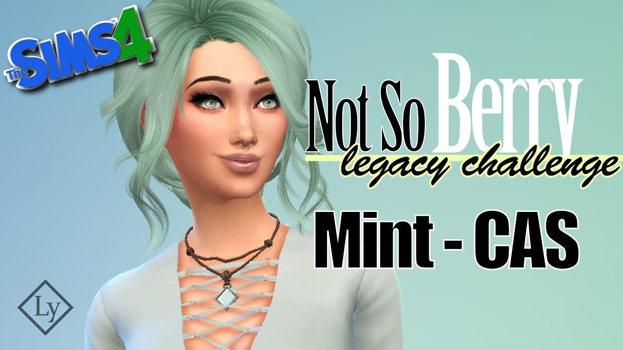 The Sims 4: Not So Berry Challenge - Mint CAS