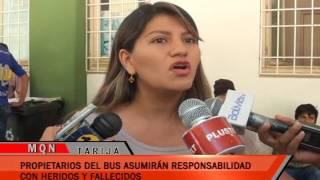 PROPIETARIOS DEL BUS ASUMIRÁN RESPONSABILIDAD CON HERIDOS Y FALLECIDOS