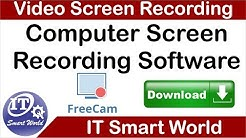 How to download and install video screen recording software free cam 8
