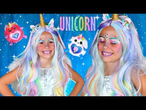 Unicorn Makeup and Costume Tutorial With Rainbocorns!