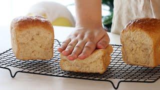 100% 탕종 통밀 식빵 만들기 손반죽으로 만들어도 부…
