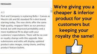 Port & Company Replacing Bella+Canvas for Amazon.Co.UK & Amazon.DE