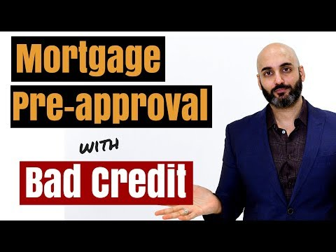 How to get mortgage pre approval with bad credit in Canada