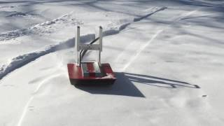 Home built RC  airboat in the snow
