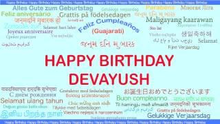 Devayush   Languages Idiomas - Happy Birthday