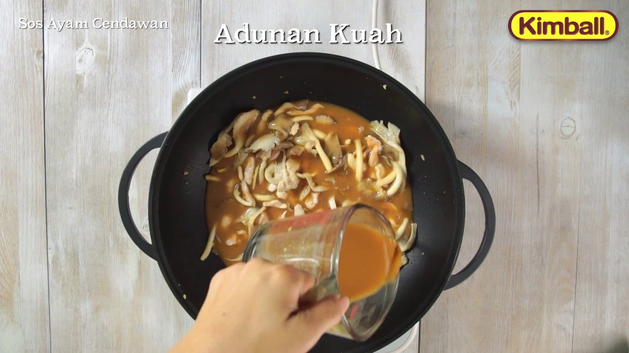 Kimball Recipe Sos Ayam Cendawan Dengan Angel Hair Kimball Youtube