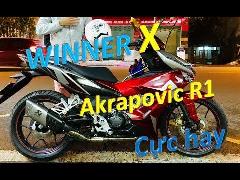 Test pô Akrapovic R1 Honda Winner X | Phượt Safety Sài Gòn | Winner X độ pô  Akrapovic R1