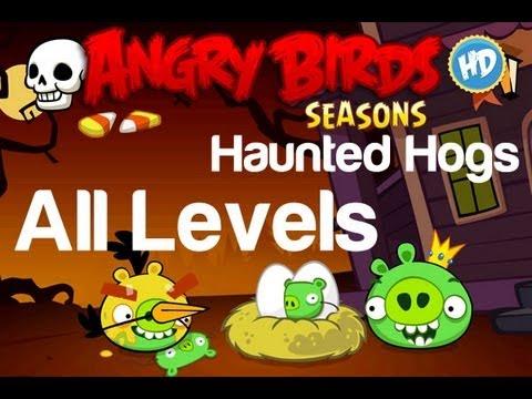 Angry Birds Seasons - Haunted Hogs All Levels 3 Star Walkthrough Levels 1-1 Thru 1-20 W/ Golden Egg