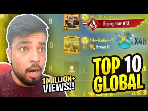 GLOBAL TOP 10 RISING STAR 😍 12 Million POPULARITY PUBG MOBILE FM RADIO GAMING