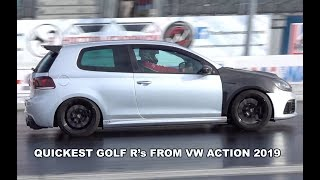 QUICKEST GOLF R's FROM VW ACTION - Compilation Video